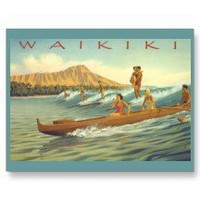 Waikiki Beach Hawaii Postcards
