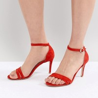 Suncoo Heeled Strappy Sandals in Suede at asos.com