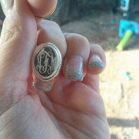 Cute Affordable Monogrammed Ring