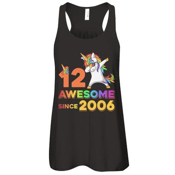 Unicorn Dabbing Awesome Since 2006 12Th Birthday