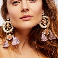 Free People Natura Mirror Statement Earrings