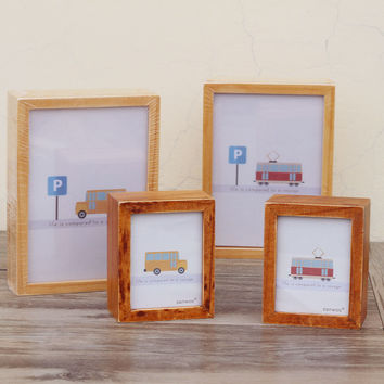 Wooden Creative Rack Box Gifts Home Decoration Music Photo Frame [6282789830]
