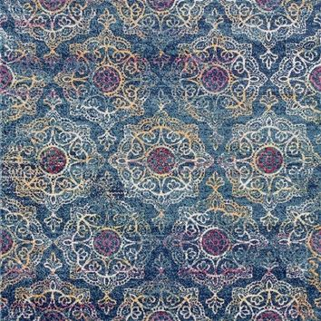 2067 Blue Medallion Colorful Oriental Area Rugs