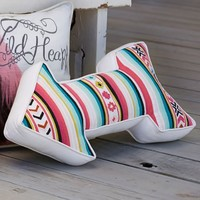 Junk Gypsy Serape Stripe Arrow Pillow