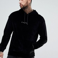 Puma Velvet Pullover Hoodie In Black Exclusive To ASOS at asos.com