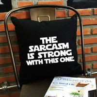 SALE !! Star Wars Pillow Cover, The sarcasm is strong in this one  Throw Pillow cover cotton canvas  Pillow Cover, Christmas Gift