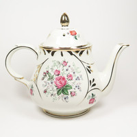ARTHUR WOOD Chatsworth Pink Roses Teapot