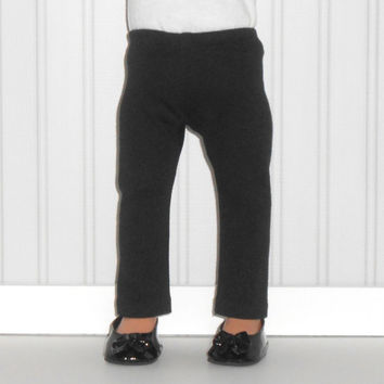 18 inch Girl Doll Clothes Black Leggings Knit Pants American Doll Clothes