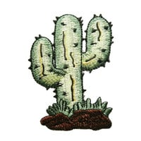 Cactus Embroidered Applique Iron on Patch