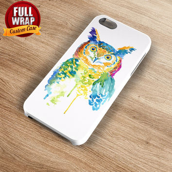 Rainbow Owl Art Work Full Wrap Phone Case For iPhone, iPod, Samsung, Sony, HTC, Nexus, LG, and Blackberry