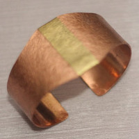 Antique Copper & Brass Cuff Bracelet