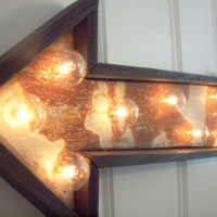 light fixture lamp metal sign hotel arrow barn wood & by mwest0425
