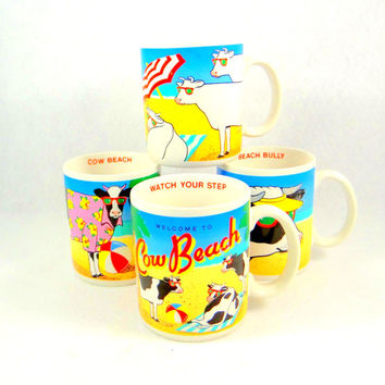 Kitsch Cow Mug Set by Vandor Pelzman Designs