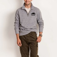 Roots Salt & Pepper Cooper Zip Polo