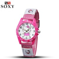 Hello Kitty Kids Watch with Leather Straps