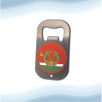 Lithuanian Soviet Socialist Republic with Coat of arms Bottle Opener