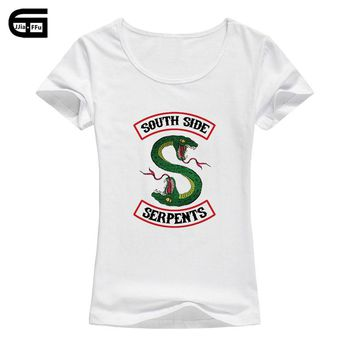 2018 Summer Riverdale Southside Serpents T shirt Women Harajuku Printed Short Sleeve T-shirt Camisetas Mujer Laides Tops B49