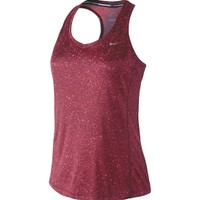 Nike Women's Miler Printed Running Tank Top