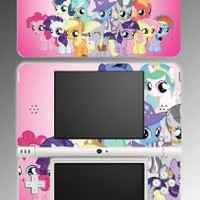 My Little Pony MLP Friendship is Magic Fluttershy Twilight Sparkle Rarity Rainbow Dash Pinkie Pie Video Game Vinyl Decal Cover Skin Protector for Nintendo DSi XL