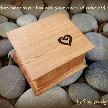 heart music box, Valentines gift, music boxes, anniversary gift, custom music box, heart, personalized music box, simplycoolgifts, love,