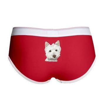 PASTEL ON CANVAS WESTIE.JPG WOMEN'S BOY BRIEF