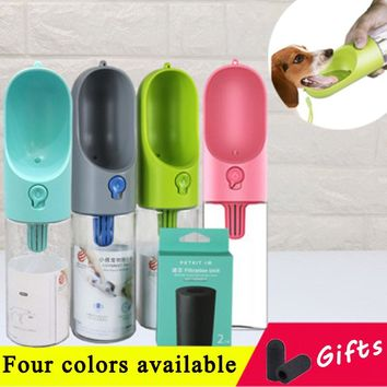 Dog Water Bottle with Drinking Reservoir | Portable | Antibacterial | One-Handed Operation