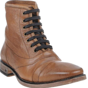 John Varvatos Men's Tan Leather Lace-up Boots