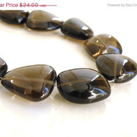 51% OFF Smoky Quartz Gemstone Briolette Smooth Nugget 18mm 1/2 Strand 9 beads
