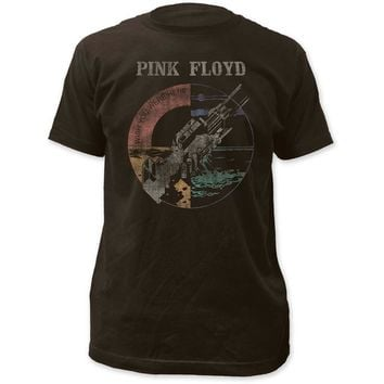 Pink Floyd Wish You Were Here Distressed Fitted T-Shirt