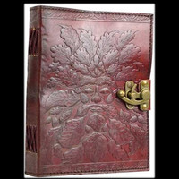 Greenman Genuine Leather Blank Journal with Latch