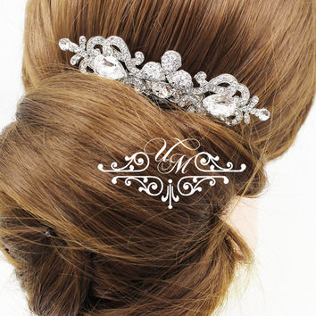 Wedding Accessories Rhinestone Headpieces Zirconia Headpieces Swarovski Wedding headpiece Bridal Hair comb Wedding hair pins - NIKI