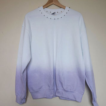 Lilac Ombre Studded Sweater Size Medium