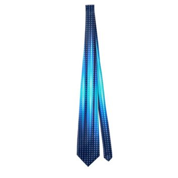 Abstract Cyan Blue Steady Lights Pattern Tie