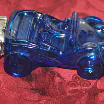 Vintage Collectible Blue Dune Buggy Avon Car Bottle, Vintage Decanter Bottle