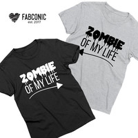 Zombie of my life shirt, Couples halloween shirts, Matching couples halloween shirts, Halloween couples shirts, Halloween couple
