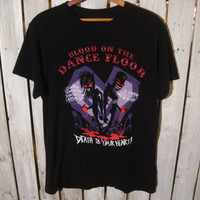 Blood on the Dance Floor T-Shirt, Size Medium. Death to Your Heart. Zombie. Upcycled Clothing. I luv this!