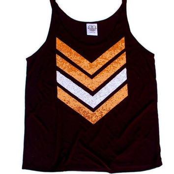 Halloween Sequin Chevron Tank