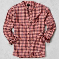 CPO Plaid Band Collar Button-Down Shirt