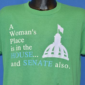 80s A Woman's Place Is In The House And Senate t-shirt Large