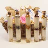 Bath salt favors, shipping included with price, wedding favors, bridal shower, tea party, spa party, shower favors, spagift, christmas gift
