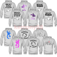 couples matching hoodies best dad daughter ever bff love mr and mrs partner best