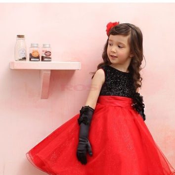 Girls Kids Princess Sleeveless Cute Dress Big Bow Tutu Outfits Party Pettiskirt 19886|26601 Children's Clothing = 1745597380