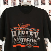 AUTHENTIC Vintage Harley Davidson Tee Harley Davidson motorcycles Graphic tee