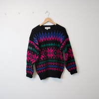 Vintage Colorful Nordic Sweater