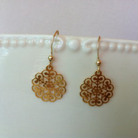 Gold earrings, 14k gold filled earrings,simple small round gold earings