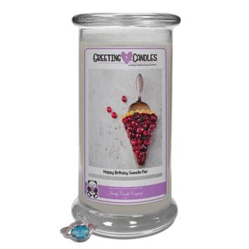 Happy Birthday Sweetie Pie! | Jewelry Greeting Candle