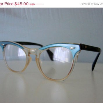 50s-60s Teal Cat Eye Children's Eyeglasses (American Optical)