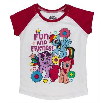 PEAPGQ9 My Little Pony - Fun and Friends Toddler White T-Shirt