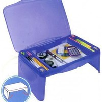 "Storage Folding Lap Desk (Frosted Blue) (2.5""H x 17.5""W x 13""D)"