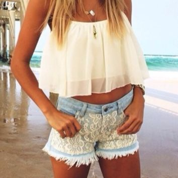 FASHION CUTE CHIFFON TOP HOT